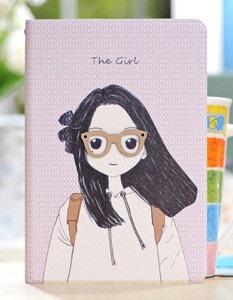 Meilleure Vente!Cartoon Girl motif Etui housse cuir simili pour iPad Mini