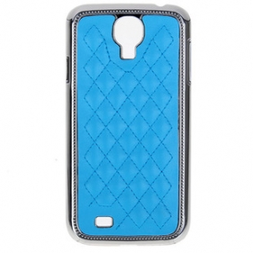 Leather style Coque avec cadre chrome pour Samsung Galaxy SIV i9500