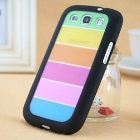 RAINBOW style coque avec bumper souple en PU pour Samsung Galaxy S3 i9300 Galaxy SIII