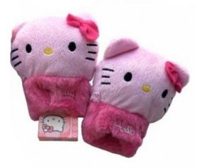 Mitaines peluche hello kitty