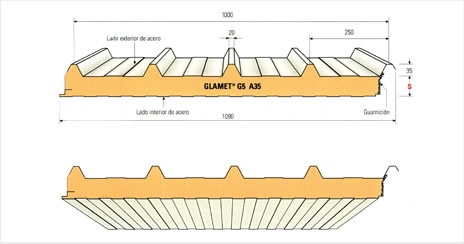 panneaux sandwich bardage toiture import export. Black Bedroom Furniture Sets. Home Design Ideas