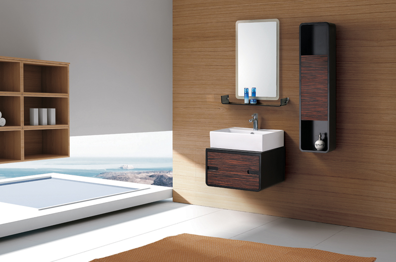 Moderne meuble lavabo salle de bain import export for Meuble de salle de bain moderne