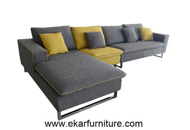 Canap gris et jaune moderne divan divan yx289 coupe for Divan gris