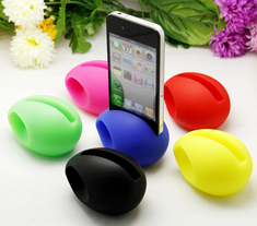 MUSIC Egg haut parleur amplificateur support souple pour iPhone 4 et 4S