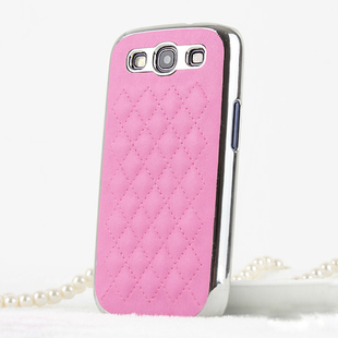 Leather style Coque avec chrome argent pour Samsung Galaxy S3 i9300 Galaxy SIII