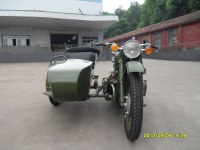 Classic style 750cc motorcycle sidecar with army green color