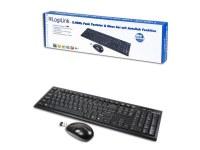 Kit clavier et souris sans fil LogiLink 2,4GHz (ID0104) - QWERTZ