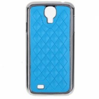 Leather style Coque avec cadre chrome pour Samsung Galaxy SIV i9500