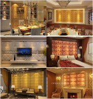 Gorgeous 3D leather carved wall panels