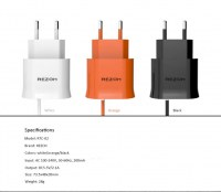 2.1A USB + Wired Mobile Wall Charger for Samsaung Galaxy S6 Edge