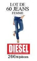 DESTOCKAGE LOT 60 JEANS FEMME DIESEL
