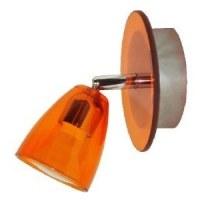 Spot Patère Verre Orange + métal 50W GU 10