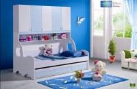 2pcs MDF Panneaux Enfants Lit superposé Armoire avec tiroir