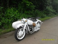 changjiang 750CC white motorcycle with sidecar