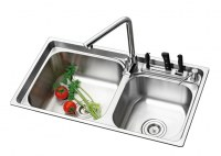 stainless steel sink DOSGseries (with knife rest)