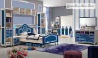 Princesa Blue Oak MDF niños Cama de muebles
