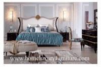Le lit classique de chambre à coucher de meubles de chambres à coucher de Kingbed de lit antique en bois solide place TA-001