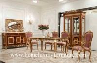 Les chaises de table en bois d'ensembles de salle à manger de meubles de style antique de l'Europe secouent le coffret FT-128
