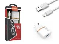 Kit 2 en 1 blanc chargeur secteur 1A et câble de chargement pour iPhone, iPad & iPod