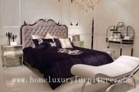 Le lit place le lit classique FB-125 de chambre à coucher de meubles de chambres à coucher de Kingbed de lit antique en bois solide