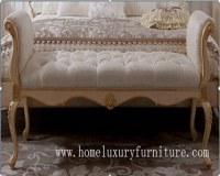 Enfoncez le style classique FU-102 de selles de selles de chambre à coucher de meubles de chambre à coucher de selles de tabouret en bois de lit