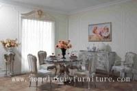 Les chaises rondes de la table de salle à manger 4 de table de salle à manger en bois de table de salle à manger marbrent les ensembles FT-103 de table de salle à manger
