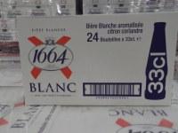 Français Kronenbourg 1664 Blanc 250ml Bouteille Lager