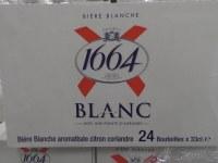 KRONENBOURG 1664 BLANC / FRENCH BLUE BOUTEILLES 33CL / 25CL