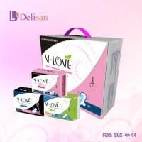 Agency of cheap price anion fuctional Vlove sanitary napkin