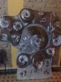 Plaque d'ammonite en marbre fossilisé