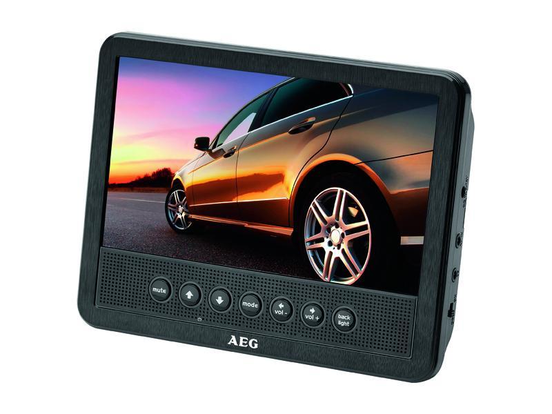 lecteur dvd 7 pour voiture aeg car cinema dvd 4555 noir import export. Black Bedroom Furniture Sets. Home Design Ideas