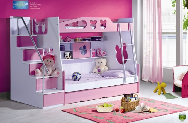 lit superpos enfants avec des panneaux escaliers et les. Black Bedroom Furniture Sets. Home Design Ideas