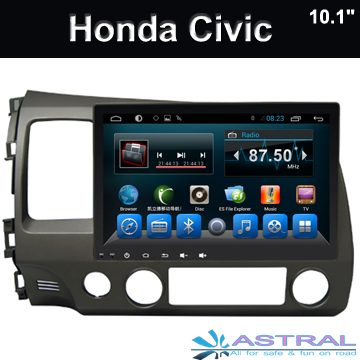 2 din car stereo grand cran de navigation honda civic 2006 2011 radio. Black Bedroom Furniture Sets. Home Design Ideas