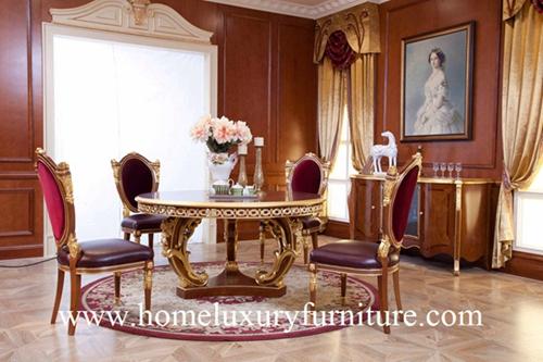 Les Meubles Classiques De Luxe De Salle A Manger De Chaise De Table