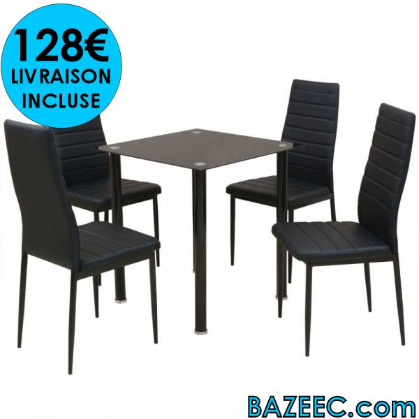 cinq LIVRAISON à pièces table Ensemble manger salle de pour wPZkTOuXi