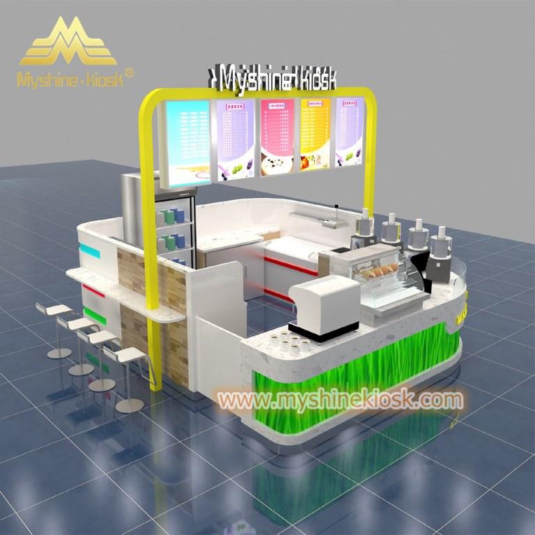 Custom Modern Shopping Mall Retail Food Kiosk Design Idea