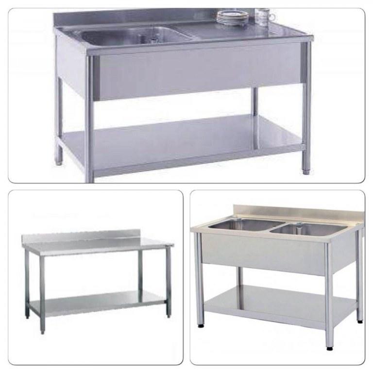 plonge inox vier table inox import export. Black Bedroom Furniture Sets. Home Design Ideas