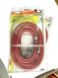 1 Tuyau T6/10M pvc rouge 6x11 10 m 1/4 f + Embouts baïonnette Mecafer 156015