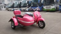 Mini electric motorcycle sidecar with pink color