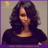 6A Brazilian Virgin U Part Wig Human Hair Short Bob Unprocessed Full Lace/Front Lace /U...