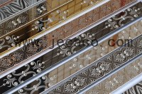 Stainless steel with laser pattern decor trim,tile trim,strip