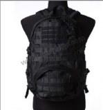 Black waterproof lightweight military backpack
