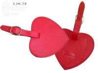 High Fashion Heart-shaped PU Leather Luggage Tag