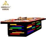 Équipement de cuisson de gril de table de Teppanyaki de couleur d'arc-en-ciel de pont