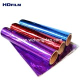 Colorful holographic film for lamination, printing, gift wrapping