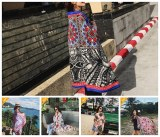 Rectangle Ethnic Pattern Beach Towel Yoga Mat Chiffon Table Cloth Flowers Printed Summe...