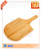 Broad wooden chopping board with handle
