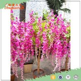 1m hot sale Chinese silk cloth wedding decoration artificial wisteria flower tree