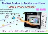 CE RoHS Certified Mobile Phone Sterilizer UV Cellphone Sanitizer Disinfector, UV Ozone Sterilizer