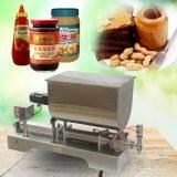 100-1000ml,liquid paste filling mixing machine,piston filler machine,big hopper